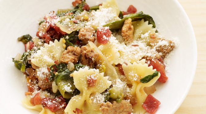 Farfalle with Sausage and Escarole