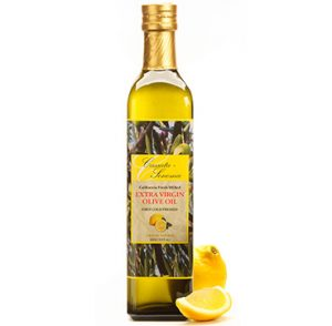 Cassata Sonoma Winery & Vineyard's specialty lemon flavored gourmet extra virgin olive oil.